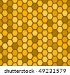 Honeycomb seamless pattern - stock vector