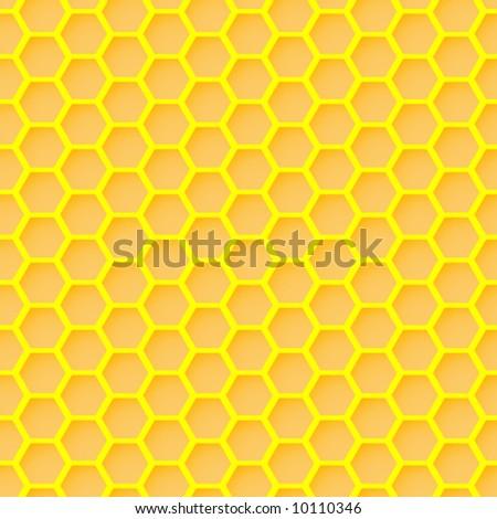 honeycomb seamless wallpaper - stock vector