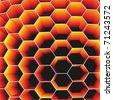 Honeycomb. Vector. - stock vector