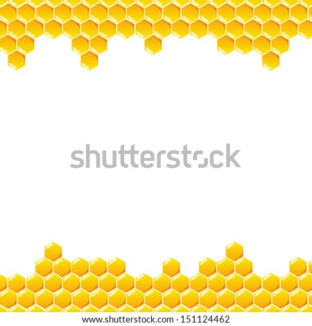 Honeycomb vector on white background - stock vector