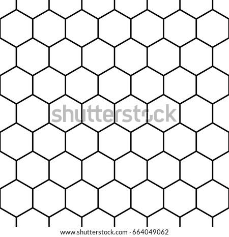 Honeycomb Wallpaper Repeated White Interlocking Polygons Stock ...