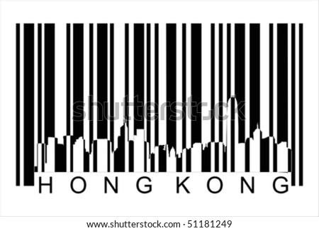 hong kong barcode Isolated over background and groups, vector ILLUSTRATION