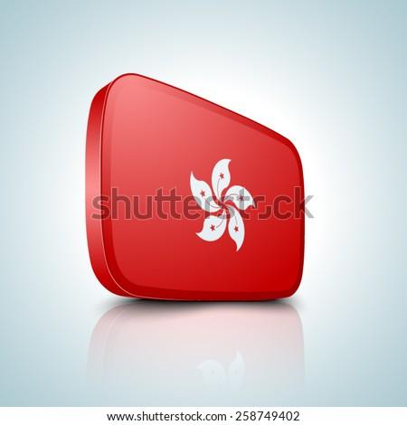 Hong Kong button - stock vector