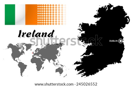 Hong Kong info graphic with flag , location in world map, Map.(EPS10 Separate part by part) - stock vector