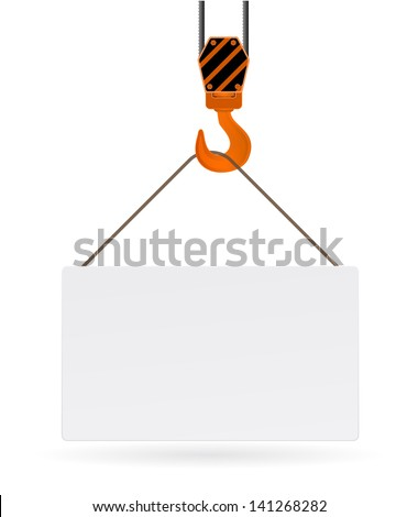 hook with tag - stock vector