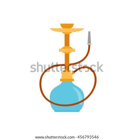 Hookah icon. Arab smoking hookah.Shisha with smoking pipe vector illustration - stock vector