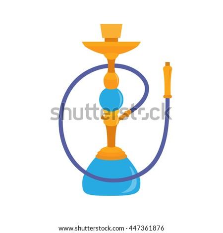 Hookah icon. Arab smoking hookah vector illustration - stock vector
