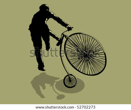 Hop on a bicycle. - stock vector