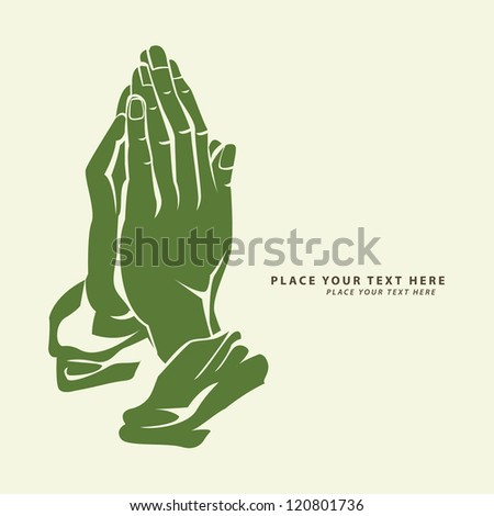 hope hand - stock vector