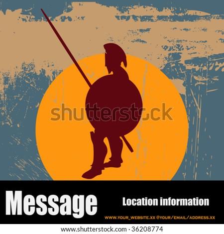 Hoplite Guard - stock vector