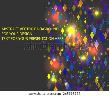 horizontal background for your text or presentation  with colors rhombus - stock vector