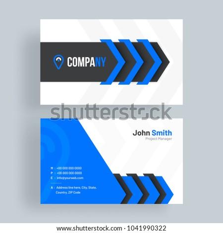 Horizontal business card front back presentation stock vector horizontal business card with front and back presentation colourmoves