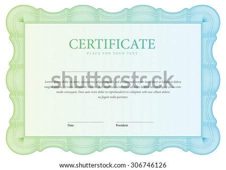 horizontal Certificate and diplomas template. Vector