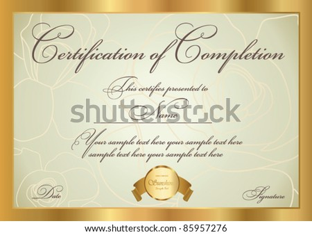 Flame of lifes CERTIFICATE COUPON Certificate of completion – Certification of Completion Template