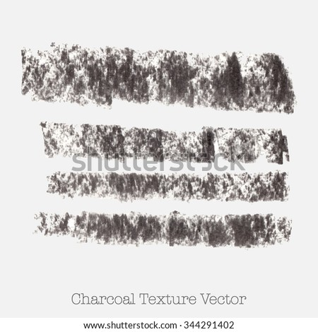 Horizontal charcoal strokes, black vector lines. Artistic graphic design vector elements for banners, borders or frames. - stock vector