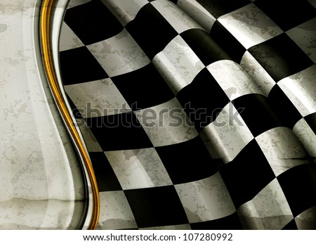 Horizontal Checkered Background, old-style vector - stock vector