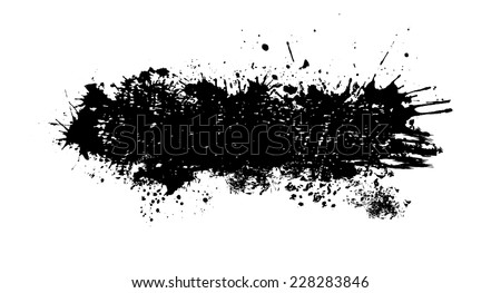 horizontal frame of abstract ink spots. Vector - stock vector