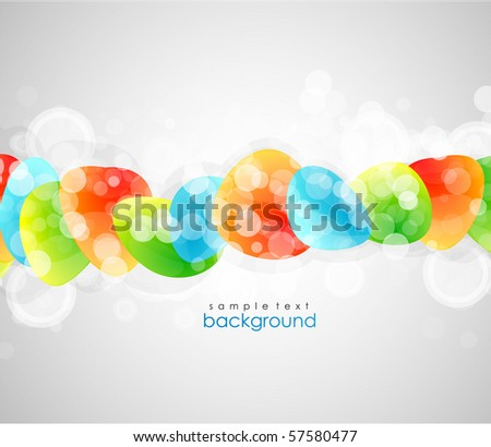 Horizontal glossy shapes line. Vector banner