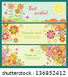 Horizontal greeting cards - stock vector