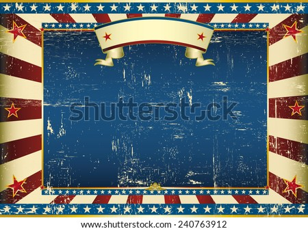 Horizontal grunge american. An american vintage horizontal background for a certificate - stock vector