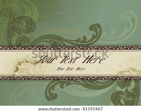 Horizontal grungy Victorian vintage banner (eps10); jpg version also available - stock vector