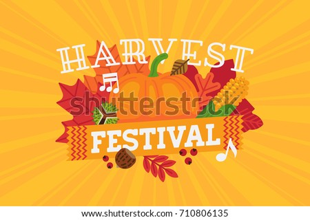 Horizontal harvest festival banner poster flyer stock vector horizontal harvest festival banner poster or flyer template thanksgiving celebration vector illustration pronofoot35fo Image collections