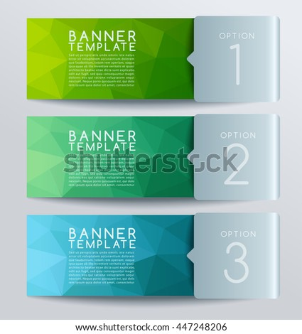 Horizontal Polygonal Banner Template : Vector Illustration