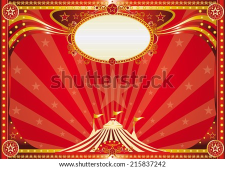 Horizontal red circus background. An horizontal circus background for your show.