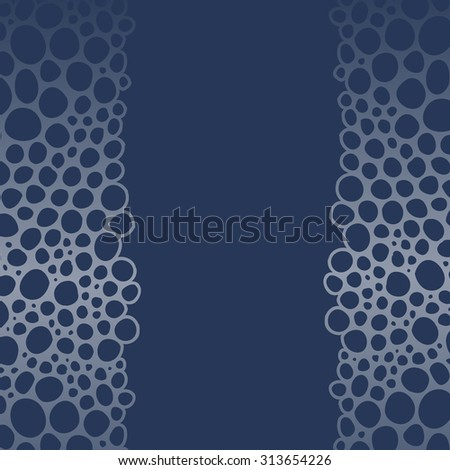 Horizontal seamless abstract pattern with bubbles - stock vector