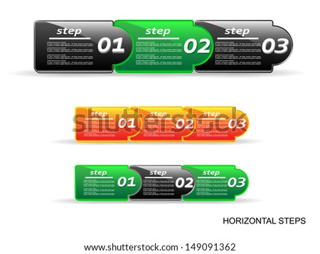 Horizontal steps.Vector illustration.EPS10 - stock vector
