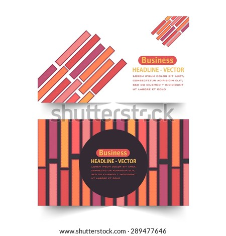 Horizontal Style Multicolor Line and Blocks Elements Banner Design, Web Advertising Vector Template  - stock vector