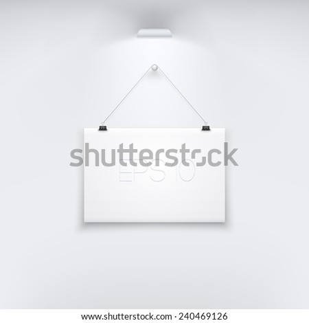 Horizontal White Empty Board Template. Ideal for your Poster, Illustration, Infographic, Business, Banner and more. EPS 10 - stock vector