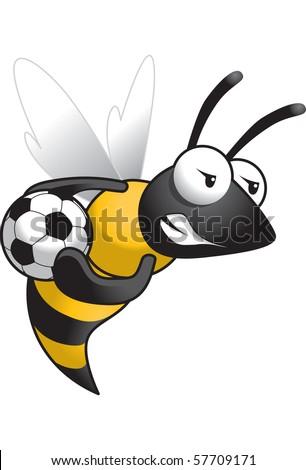 Hornet-Soccer - stock vector