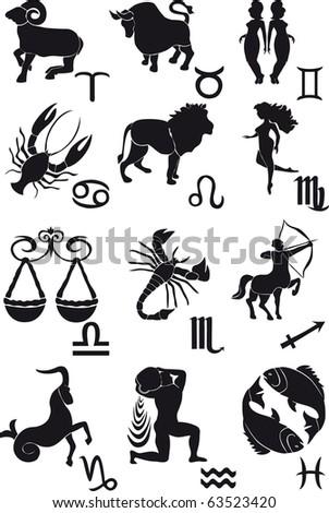 Horoscope vector brushes - stock vector