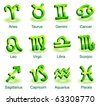Horoscope zodiac star signs - stock photo