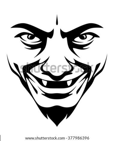 Horrible smile - stock vector