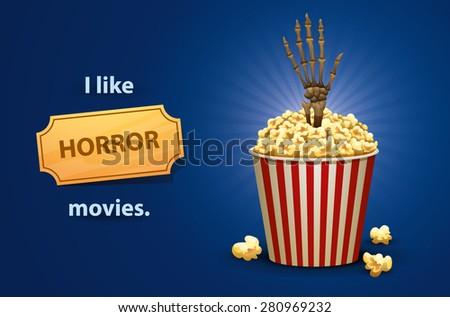 Horror movies, vector - stock vector