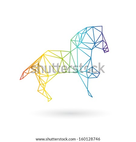 Horse abstract isolated on a white backgrounds, vector illustration - stock vector