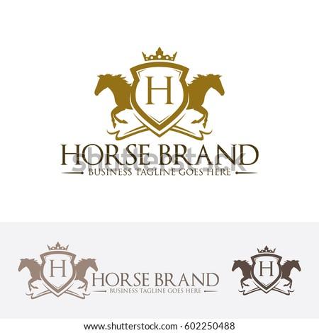 Horse Brand Vector Logo Template Stock Vector 602250488 Shutterstock