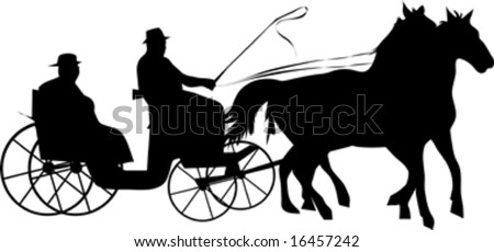 Horse And Carriage Logo Horse Carriage Silhouette