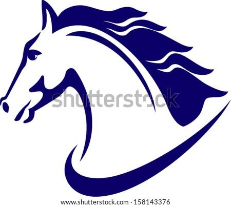 Horse emblem - stock vector