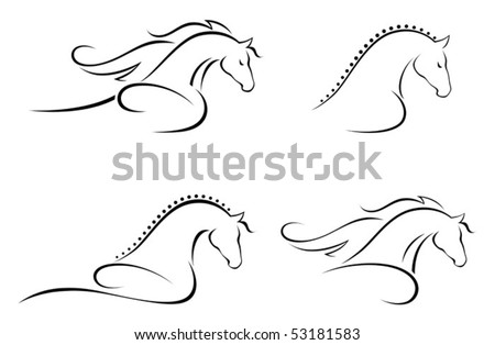 Horse head - stock vector