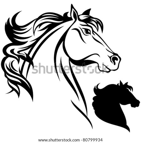 horse head vector illustration - stock vector