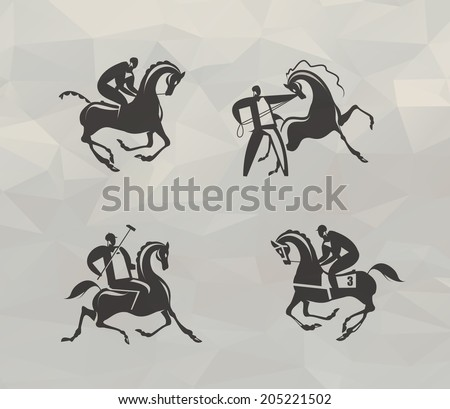 Horse icons. Vector format - stock vector