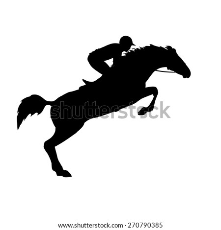 Horse Race And Rider Racing Jockey Silhouette Derby Equestrian
