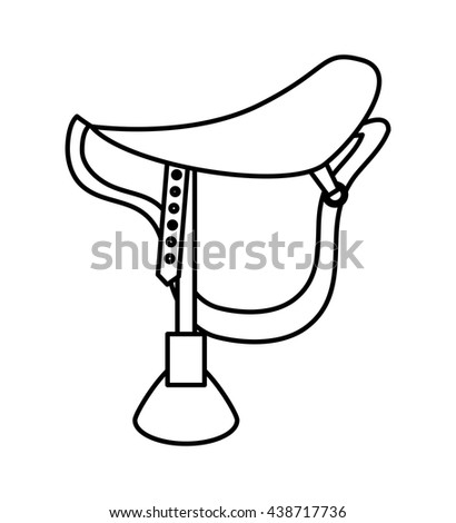 Horse ridding concept. Chair icon. vector graphic