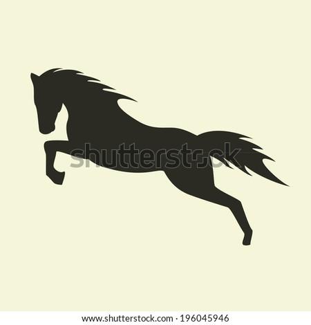Horse silhouette.  - stock vector