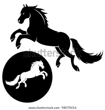 Horse silhouette - vector illustration - stock vector