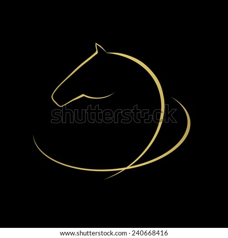 Horse symbol vector - stock vector