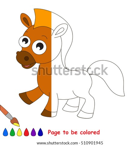 Horse To Be Colored The Coloring Book Educate Preschool Kids With Easy Kid Educational